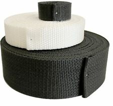"Polypropylene Webbing 2"" Inches WHITE 100 yards ROLL MARINE QUALITY"