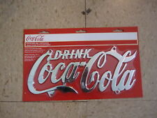 Coca-Cola Chrome Plated License Plate - BRAND NEW!