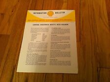 Vintage Information Bulletin Shell Oil Chemical Gas Dieldrin Control Insects old