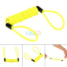 Motorcycle 120cm Safety Lanyard Spring Coil Wire Disc Brake Lock Reminder Cable