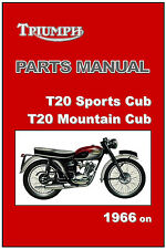 TRIUMPH Parts Manual T20 Tiger Cub T15 Terrier 1953 to 1968 FACTORY Spares List