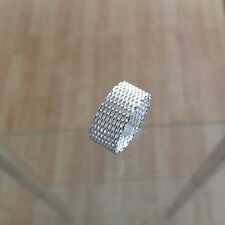 Geflochtener Ring 925 Sterling Silber Edel Luxus Glitzer Fingerschmuck Vintage