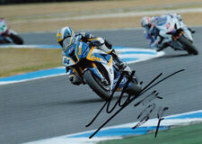 Michel Fabrizio Hand Signed 2012 BMW Racing 7x5 Photo WSBK 1.