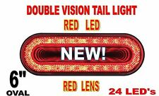 "24 LED 6"" OVAL ""MIRAGE"" STOP,TURN & TAIL LIGHT - RED LED/RED LENS"