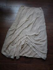 Lilith silk tulle long skirt lined pale pink L Large Made in France boho-chic