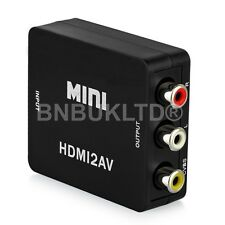 1080P HDMI to Composite 3 RCA AV CVBS Video Converter DVD CRT Apple TV PS3 SKY