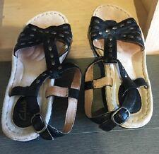 Clarks Artisan Latin Vine Sandals, Black w/Silver Studs - size 7M