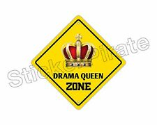 "*Aluminum* Drama Queen Zone Funny Metal Novelty Sign 12""x12"""