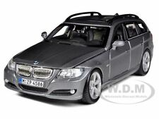 BMW 3 SERIES TOURING WAGON GREY 1:24 DIECAST MODEL CAR BY BBURAGO 22116