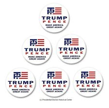 6-Pack Campaign Button Set - Trump / Pence Red, White, and Blue