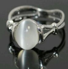 Size:9' R1/2  Silver Plated Inspired Moonstone Ring.