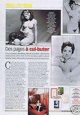Coupure de presse Clipping 2001 des pages à Cul-Buter  (1 page) seins nus