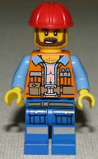 LEGO NEW FRANK THE FOREMAN MINIFIGURE FIG CONSTRUCTION WORKER MINIFIG