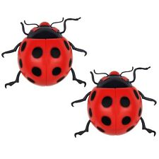 2 x Large Ladybird Garden Wall Decorations Ornament Fence Wall Outdoor Summer