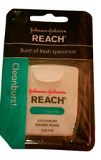 "JOHNSON & JOHNSON REACH ""CLEANBURST"" SPEARMINT WAXED FLOSS 55 YD"