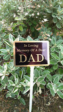 Personalised Gold Temporary Grave Marker Memorial Plaque Any name/text Human/Pet