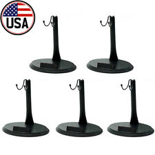 "5pcs 1/6 Action Figure Stand Base with Name Plate for 12"" Hot Toys Sideshow USA"
