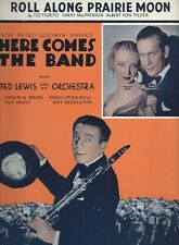 1935 ROLL ALONG PRAIRIE MOON FIORITO HERE COMES THE BAND ANTIQUE SHEET MUSIC