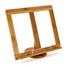 Kochbuch Ständer Lese Buch Halter Bambus Holz Buch Stütze Bücherständer 31x24 cm