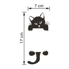 DIY Black Funny Cat Switch Stickers Bedroom Parlor Home Decor Door Wall Stickers