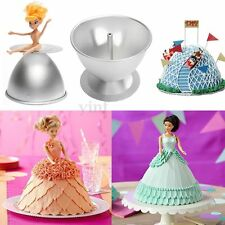 3D Princess Dress Doll Cake Fondant Baking Pan Decorate Making Mould Kitchen Tin