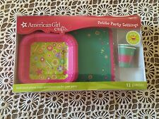 AMERICAN GIRL DOLL CRAFTS PETITE PARTY SETTINGS 10 PC PLATES CUPS PLACEMATS 2011