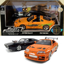 1968 Dodge Charger R/T & Toyota Supra 2-Pack Fast & Furious 1:24 Jada Toys 97503