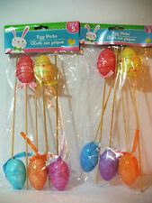 EASTER 10 PACK OF EGG STAKES DECORATIVE OUTDOOR EGG STAKES