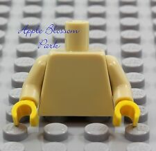NEW Lego Girl/Boy Minifig Plain TAN TORSO Star Wars Yellow Hand Blank Body Upper