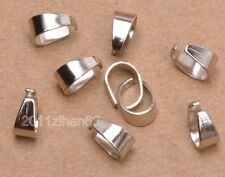 50pcs dull silver Pendant Pinch Clip Clasp Bail Connector Jewelry Findings 8mm