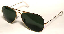 RAY BAN 3025 62 AVIATOR 001/58 GOLD SUNGLASSES ORO POLARIZZATO POLARIZED