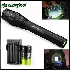 Zoomable 8000LM 5-Mode CREE XML T6 LED Flashlight Torch Lamp Light 18650&Charger