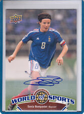 "2010 UD WORLD OF SPORTS #120 SONIA BOMPASTOR ""FRENCH SOCCER "" AUTOGRAPH/ AUTO*"