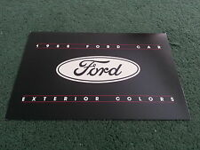 1988 FORD USA COLOUR CHART BROCHURE - Mustang Escort Thunderbird Taurus Festiva
