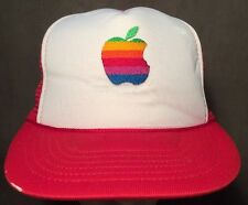 Steve Jobs True Vintage Apple Macintosh Rare Red Trucker Hat Snapback Cap