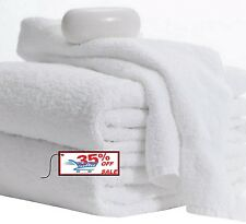 NEW HAND TOWELS 12 PACK 16X27 INCHES WHITE 3LBS 100% COTTON GYM SALON SPA HOTEL
