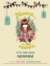 "Florence and the Machine 16"" x 12"" Photo Repro Australian Concert Poster"