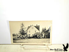 Grandma Mama 3 Generations of Cars People Farmhouse Wood Rank Antique Photo