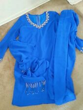 Shalwar kameez Pakistani indian women large blue punjabi anarkali Bollywood