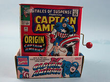CAPTAIN AMERICA CLASSIC TIN JACK IN THE BOX WITH ORIGINAL BOX by Schylling