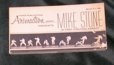 70s Mike Stone Free Fighting Karate Flip Picture Book Ohara Animaction Animation