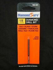 "LOT of 3-Diamond Drill Bits 1/8"" 3.3 mm Drill Tile Glass Bottle Stone Ceram"