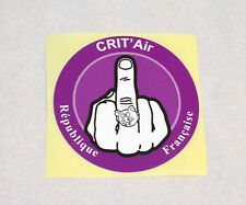 stickers , Moto , Custom, Harley  satirique crit'Air  bikers,auto, moto, etc
