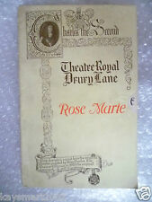 Theatre Programme ROSE MARIE a Romance of Canadian Rocies -Otto Harbach,R Friml