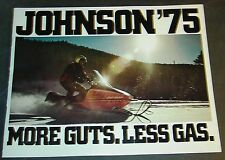 1975 JOHNSON SNOWMOBILE SALES BROCHURE 12 PAGE VERY NICE  (129)
