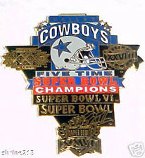 Dallas Cowboys 5 Time Super Bowl Champs Pin