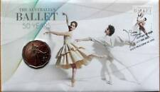 2012 AUSTRALIAN BALLET 50 YEAR ANNIVERSARY PNC STAMP & 50 CENT COIN COVERS