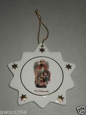 Hummel Christmas Star Porcelain Ornament by ARS Angel with Little Boy & Girl