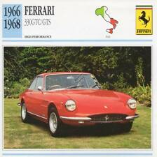 1966-1968 FERRARI 330GTC/GTS Classic Car Photo/Info Maxi Card