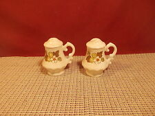 Metlox Poppytrail China Fruit Basket Patttern Salt & Pepper Set
